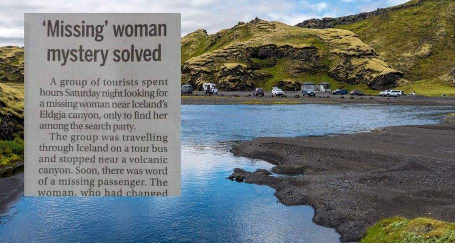 'Missing' woman found after she joins her own search party