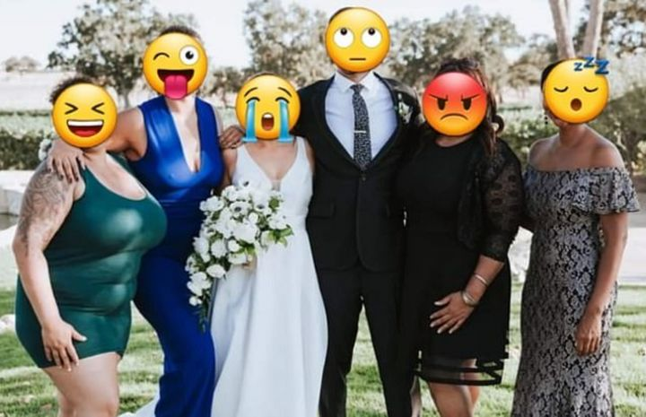 Bride asks for her cousin to be edited in photo after she wears a VERY SHORT dress