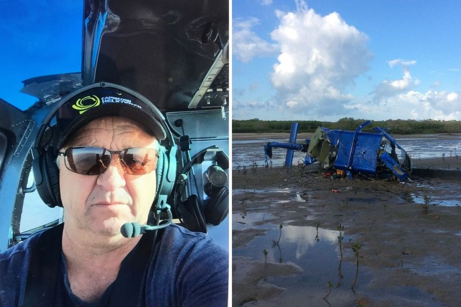 Grandpa stranded for 36 hours in CROCODILE-INFESTED water after HELICOPTER CRASH