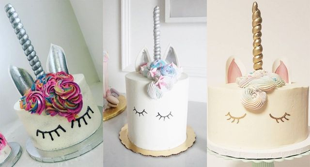 These Unicorn-inspired cakes are simply magical