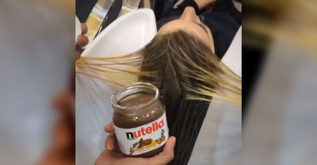 Hairstyle or dessert recipe? Woman dyes her hair using NUTELLA