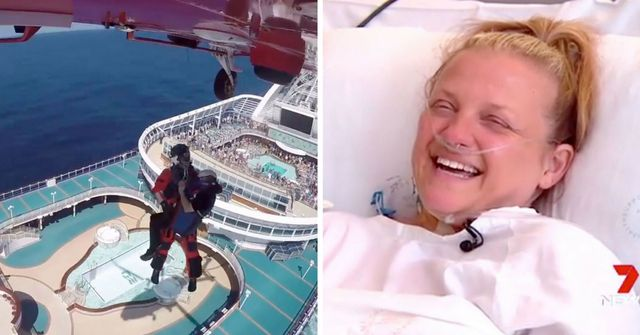 Woman winched off cruise liner and flown to Sydney in race against time for lifesaving kidney