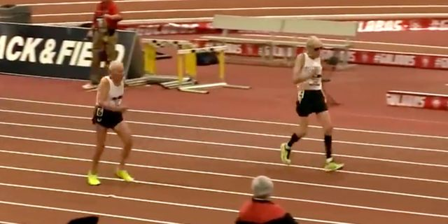 92-year-old sprinter pipped at the post by  99-year-old rival
