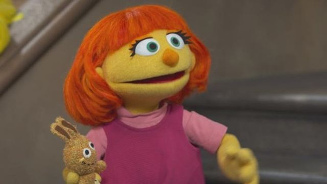 Julia, a muppet with autism, makes her debut on Sesame Street
