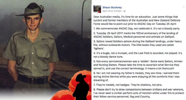 16 things retired serviceman wants us to remember this Anzac Day