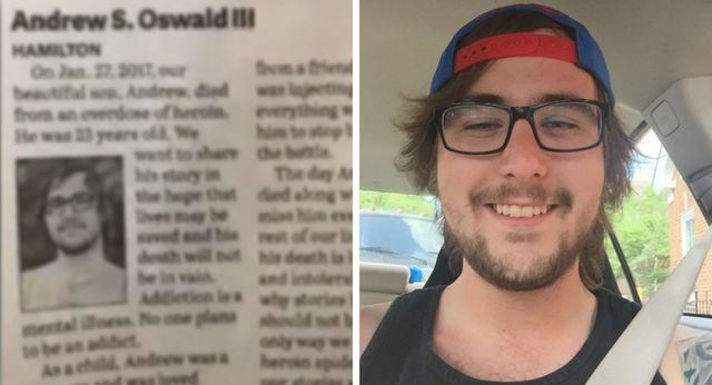 Parents write brutally honest obituary after addict son's tragic death