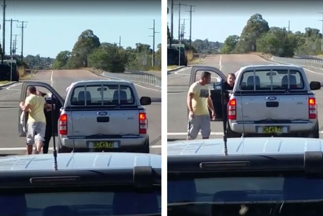 Road rage driver who punched woman in the face hands himself over to police