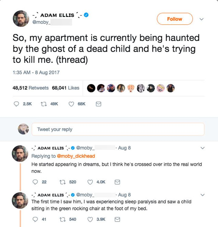 Man live-tweets scary ghost encounter | That's Life! Magazine