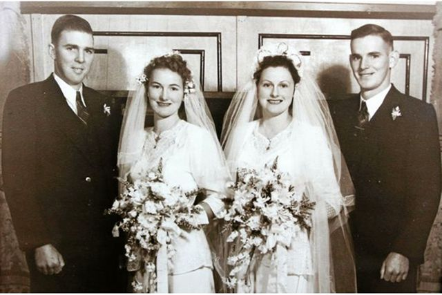Twins who married on the same day 68 years ago share another amazing milestone